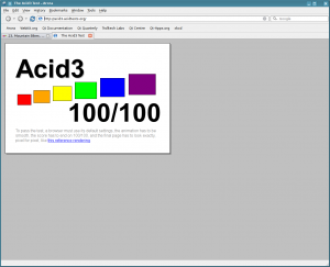 Arora 0.5 Acid3 Test - 100/100