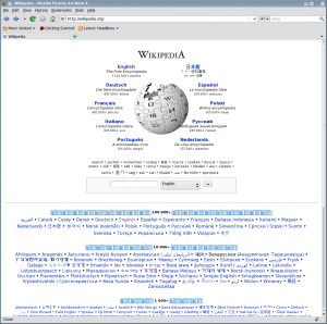 Wikipedia rendered with the end result of this guide